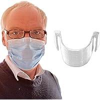 1 pince de nez anti-buée pour masque transparente - Empêche la buée et la vapeur - Respiration plus lisse - Recyclable…