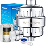 Waterfilter voor douche van WinArrow, WA550, hoog uitgangsvermogen, universeel, met verwisselbare 5-traps filtercartridge, vo