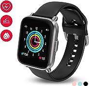 HolyHigh Smartwatch Fitness Tracker con Touchscreen a Colori Orologio Fitness con Monitor di Battito Cardiaco & Sonno Cronom