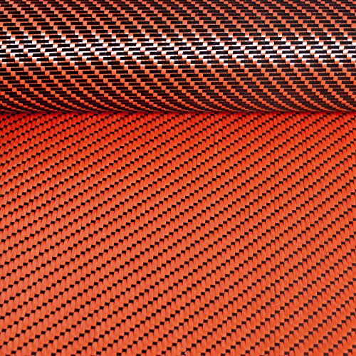 Reversible CARBON Fibre Cloth Orange KEVLAR Fabric for sale  Delivered anywhere in Ireland