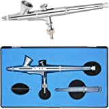 AIRBRUSH-PISTOLE f/ür AIRBRUSH KOMPRESSOR SET GRAVITY Double-Action-Gun 180 D 0,2 D/ÜSE und NADEL UNIVERSAL-PISTOLE alle Profis OPTIMAL f