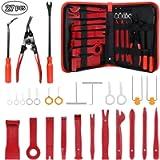 flintronic Strumento di Rimozione Auto, 27PCS Nylon Smontaggio Attrezzi, Removal Tool (Rosso) per Auto Porta Pannello…
