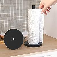 Kitchen Roll Holder Stainless Steel Modern Design Round Head Paper Towel Holder Free Standing with Round Stainless Steel…
