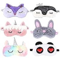6 confezioni di maschera per gli occhi per il sonno degli animali adulti