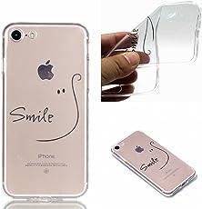iPhone 8 Hülle, iPhone 7 Hülle, iPhone 8 / 7 Crystal Shell, iPhone 8 / iPhone 7 Silikon Hülle, BONROY TPU Silikon Schutz Handy Hülle Handytasche Schutzhülle für iPhone 8 / iPhone 7, Lächeln Muster [Clear Crystal] Durchsichtige Rückschale Silikon TPU Bumper Transparent Handyhülle Tasche Case Cover Leichte kratzfeste stoßdämpfende Hülle Handyhülle für iPhone 8 / iPhone 7