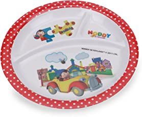 HMI Cartoon Character 3 Section Round Melamine Plate for Kids