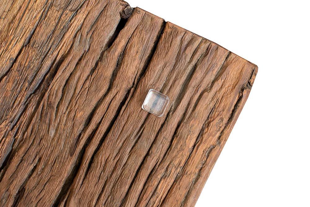 Invicta Interior Massiver Esstisch Barracuda antik Teak Holz mit Stahl Kufenfüßen 180cm inkl. Glasplatte