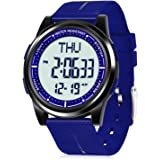 WIFORT Reloj Digital Hombre Mujer,5ATM Impermeable Esfera Grande Ultra Delgado con Cronómetro Cuenta Regresiva Alarma Tiempo