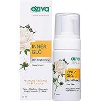 OZiva Inner Glō Skin Brightening Face Wash (with Phyto Vitamin C, Glycolic Acid AHA, Sandalwood & Yuzu) for Dark Spot…