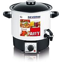 Severin EA 3658 Party-Kochautomat mit Auslaufhahn, 9 Liter, weiß-schwarz