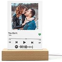 Spotify Music Code Luce Notturna Personalizzato Spotify Glass Art Lampada Acrilico Musica Placca Foto Album Copertina…