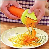 Wekold Spiralizer Verdura Spaghetti Affettatrice Vegetale Palmare Taglierina a Spirale a Mano per Carota  Cetriolo  Patate  Zucca  Zucchine  Spaghetti con Cipolla e Verdure