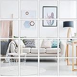 16 Pack Mirror Wall Stickers, Mirror Wall Stickers 3D Mirror Wall Stickers DIY Mirror Decor 3d Decal Mosaic Diy Home Room Dec