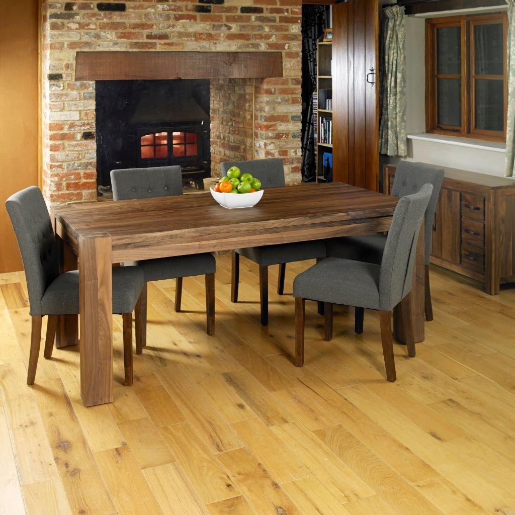 Baumhaus Mayan Walnut Dining Table Seats 8 People Amazon