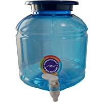 DishanKart Premium Quality Plastic Water Dispenser/Water Jar - Blue (Capacity 10 litres) (Pack of 1)