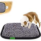 LAMTWEK Husdjur snuffelmatningsmatta (43 cm x 53 cm), hundmatsautomat, uppmuntrar naturliga färdigheter för hundar, interakti