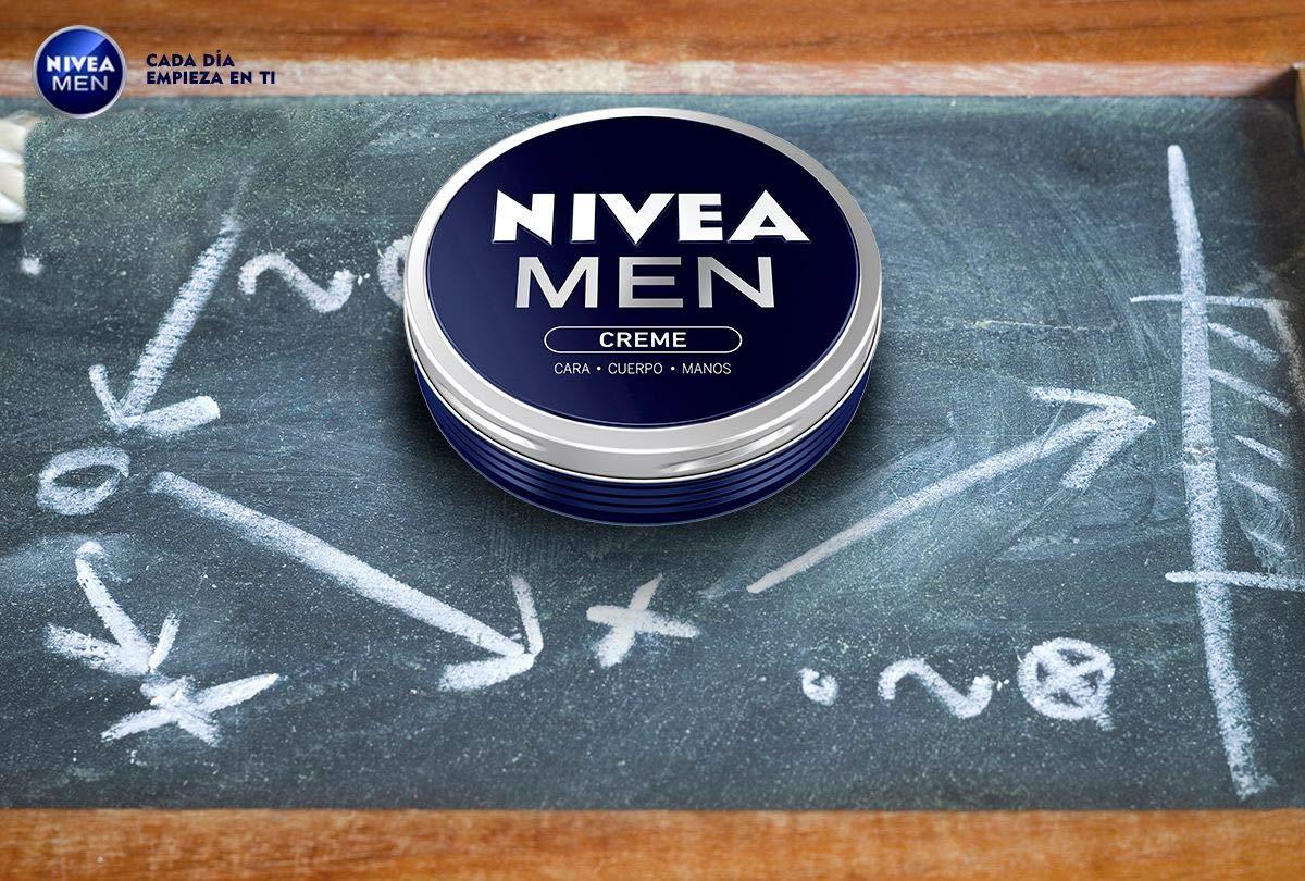 NIVEA MEN Creme en pack de 5 (5 x 150 ml), crema para hombres, crema para cara, cuerpo y manos, crema multiusos…