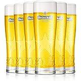 HEINEKEN   Verres à Bière   250 ML   Ensemble de 6   Ensemble de Verres de Haute Qualité