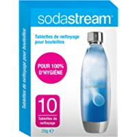 Sodastream Tablettes de nettoyage x10, Carton, Blanc/Bleu