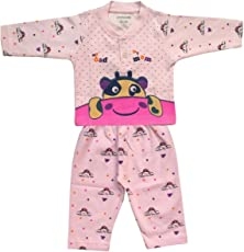 Lilsugar Baby Boys Pink Full Sleeves Night Suit