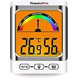 ThermoPro TP52 Higrómetro Termómetro Digital Medidor de Temperatura y Humedad Ambiente Interior Termohigrómetro con Retroilum