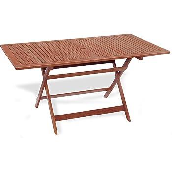 WOHNWOHL® Salon WOHL® Table de Jardin Table en Bois Table Pliante ...