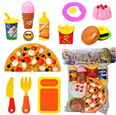 Vibgyor Vibes Kitchen Role Restaurant Role Pretend Play Fast Food Set