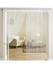 Exporthub Beautiful Polyester Door String Curtain - 7ft, White