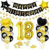Globos 18 Cumpleaños,Decoración 18 Cumpleaños,Fiesta Cumpleaños 18,Globo de Cumpleaños 18,Globos de Cumpleaños Número 18,Cump