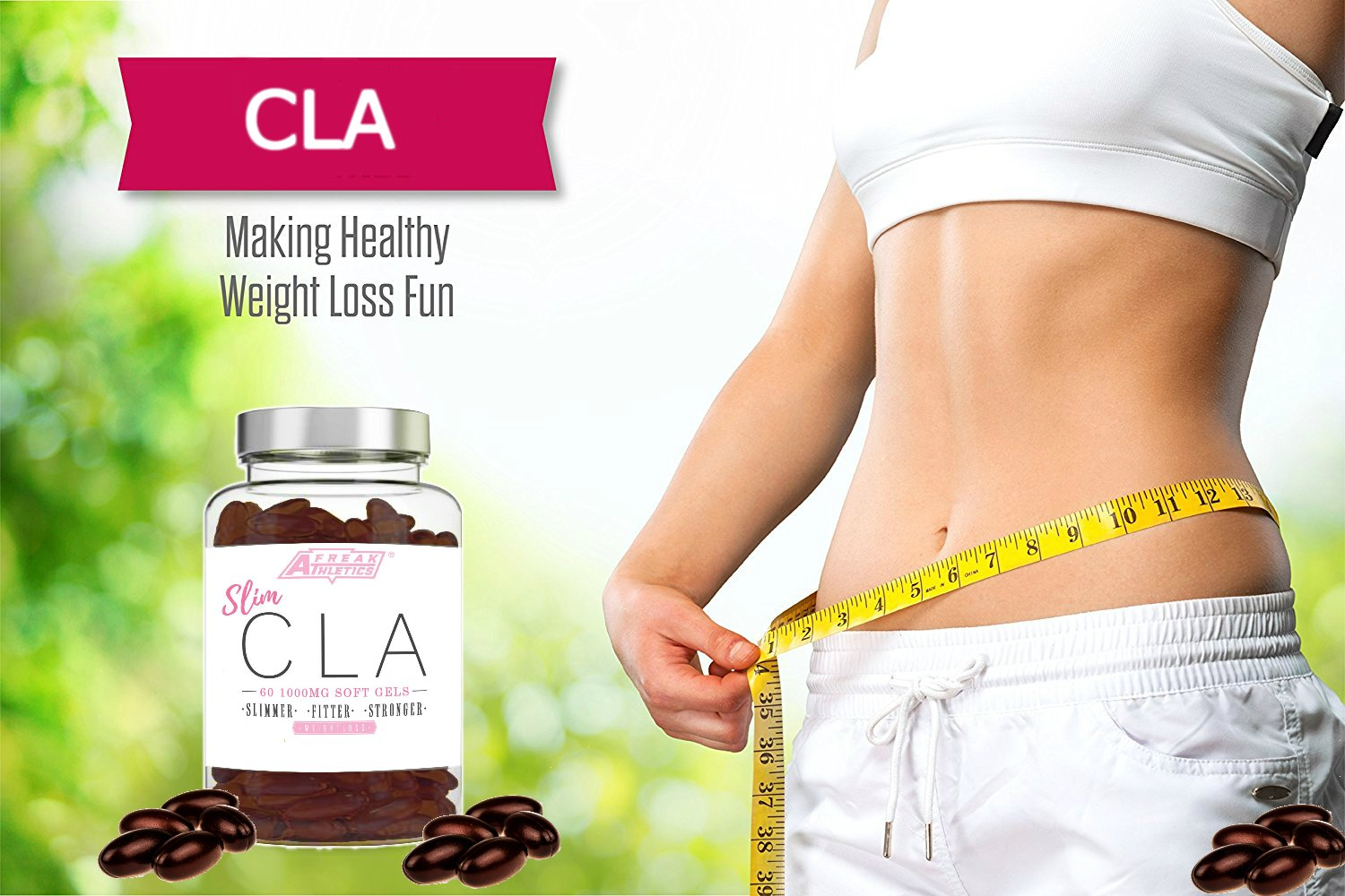 71Ist6tn7nL - Sim CLA - 60 x 1000mg Maximum Strength CLA Capsules - CLA Tablets To Help Boost Metabolism, Blast Stubborn Body Fat & Support Overall Health - Made in the UK - Includes FREE Fat Buster Workout Program