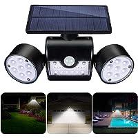 GIANTARM Solarlampen für Außen mit Bewegungsmelder 30 LEDs Wasserdicht IP65 Solarleuchte Garten 360° Drehbar Solar…