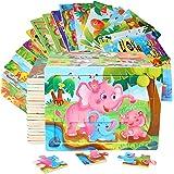 Cenhou Puzzles für Kinder,Kinder Holzpuzzle Spiele Vorschule Lernspielzeug Set, tolles Geschenk für Weihnachten Geburtstag Ju