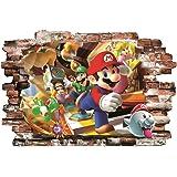 BOARA Muursticker, muurschilderingen Mario, muurtattoo1 blad Super Mario Pattern 780mmX 560mm