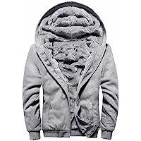 MANLUODANNI Homme Hiver Chaud Sweats Épaisse Veste à Capuche Doublée Polaire Manteaux Doux Hoodie Blousons Sweat-Shirts…
