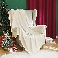MIULEE 1 Pièce Couverture Flanelle en Motif Granulé Plaid d'hiver Très Doux Confortable Durable Chaud pour Canapé Sofa…