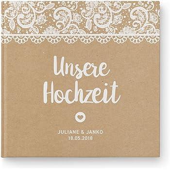 Deinweddingshop Gastebuch Hochzeit Personalisiert Vintage Spitze
