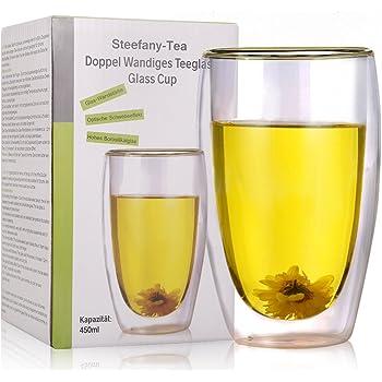 a732b2b678c7dd Verre à thé à double paroi verre, verre Thermos à double paroi, thermique  Verres grandes tasses de café avec effet en suspension pour lait,Thé,  Shake, ...