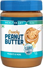 HealthKart Peanut Butter Fortified with Vitamins & Minerals Crunchy, 500g (Vitamin & Mineral Crunchy, 500g)