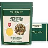Tè Verde Agli Agrumi Alla Menta Di Camomilla, 200g (100 tazze) | Mint Tea | TÈ RILASSANTE E CALMANTE | Congedo di tè verde, c