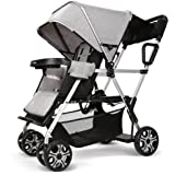 Double Stroller Convenience Urban Twin Carriage Stroller Tandem Collapsible Stroller All Terrain Double Pushchair for Toddler