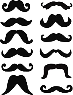 UK FAST DISPACH ASSORTED FANCY DRESS SELF ADHESIVE MOUSTACHES SET 6