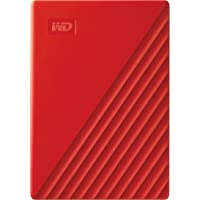 WD 2TB My Passport Portable External Hard Drive, USB 3.0, Compatible with PC, PS4 & Xbox (Red) - with Automatic Backup…