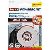 Tesa 55791-00001-00 Powerbond Ultra Strong, wit, 1.5m x 19mm