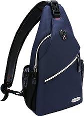 MOSISO Brusttasche Sling Rucksack Schultertasche, Polyester Crossbody Umhängetasche für Männer Frauen Mädchen Jungen, Schule