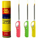 Aspect X3 REFILLABLE BBQ LIGHTER with Clipper Gas Fuel Lighter Refill Use for Kitchen, Barbecue, Candles, Camping…