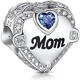 NINGAN I Love Wife Mum Sister Daughter Charms para pulseras Pandora Charms, cuentas de plata de ley 925 en oro rosa para puls