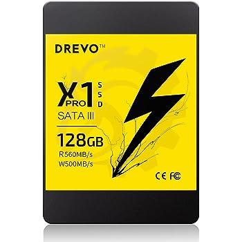 DREVO X1 Pro SSD Memoria a Stato Solido 128GB SATA3 Lettura 560 MB/s Scrittura 500 MB/s