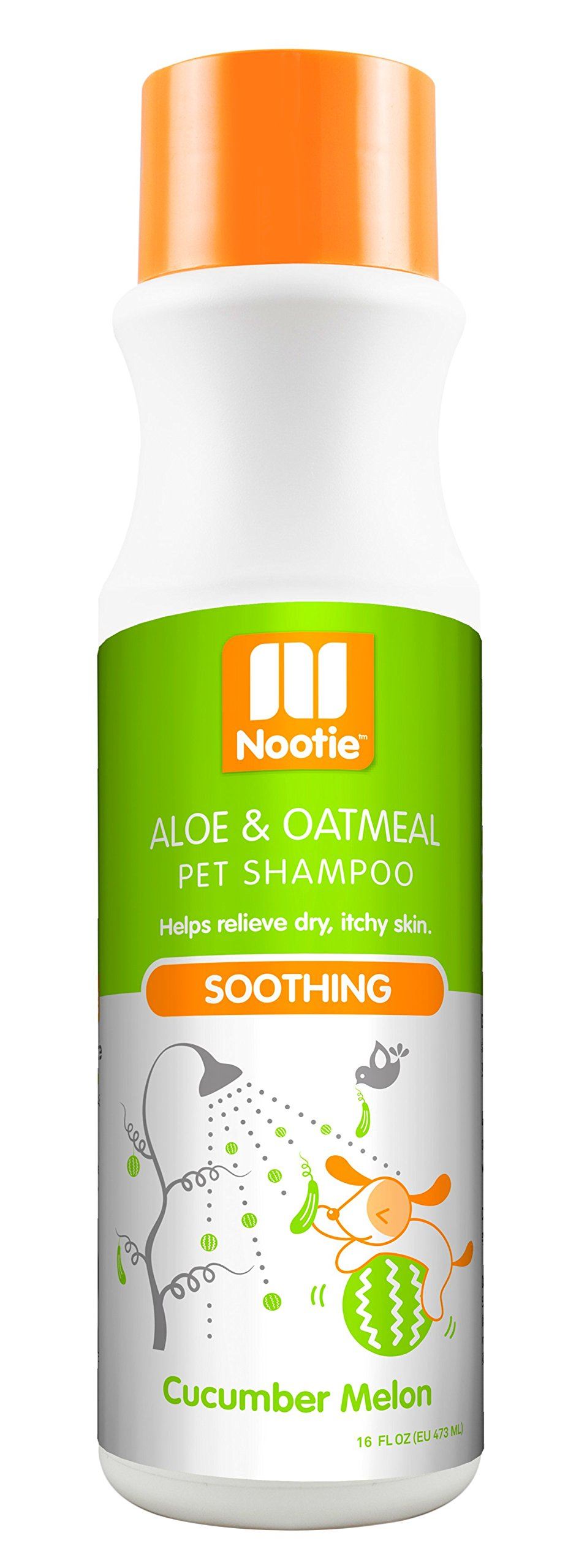 Nootie Cucumber Melon Soothing with Aloe and Oatmeal Pet Shampoo, 16 oz