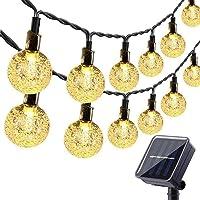 Solar Garden Lights Outdoor, 36ft 60 LED Solar String Lights Waterproof, Solar Powered Crystal Ball Indoor/Outdoor Fairy…