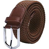 TANGCHAO Cintura Elastica Intrecciata per Uomo e Donna Cinturino Elastica Intrecciata con Fibbia in Lega di Zinco 33mm…